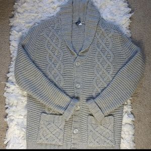 Divided by H & M gray cable knit chunky sweater